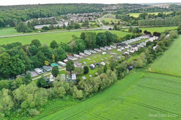 Aerial View of Riverside Caravan Park